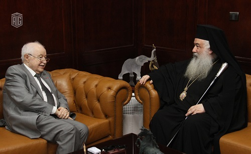 Abu-Ghazaleh and Greek Orthodox Archbishop Christophoros Discuss Cooperation