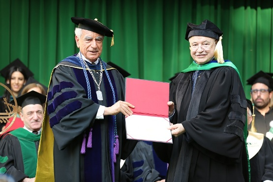 Abu-Ghazaleh Delivers LAU Commencement and Receives Honorary Doctorate Degree