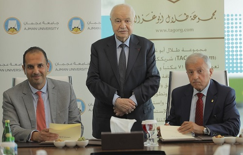 Talal Abu-Ghazaleh Global and Ajman University Sign MoU