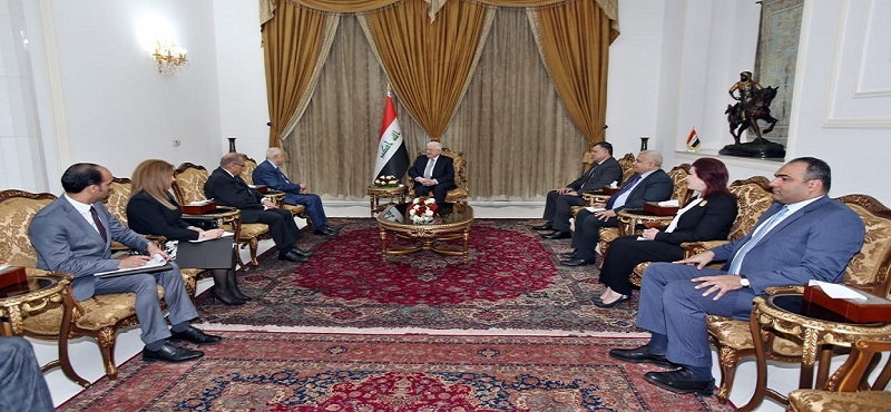 President of the Republic of Iraq and Abu-Ghazaleh Stress the Importance of Developing Education and Building Capacities in Iraq