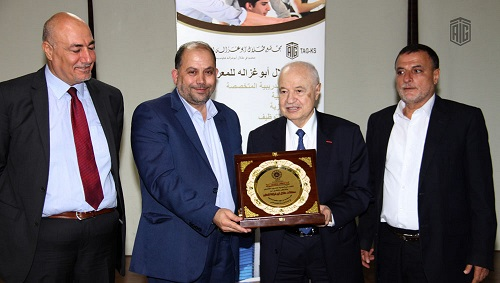 Abu-Ghazaleh Patronizes Graduation Ceremony of 1st Batch of Knowledge Station Students in Irbid Camp