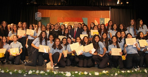 Abu-Ghazaleh Patronizes Honorary Ceremony of Outstanding Students at Rosary College School-Shmeisani